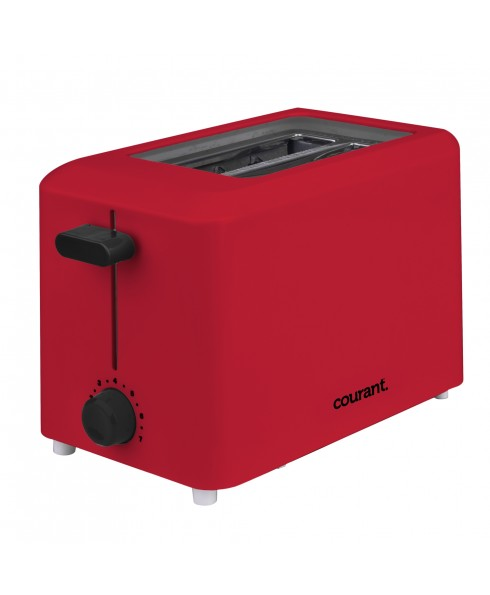 COURANT 2-SLICE TOASTER, RED