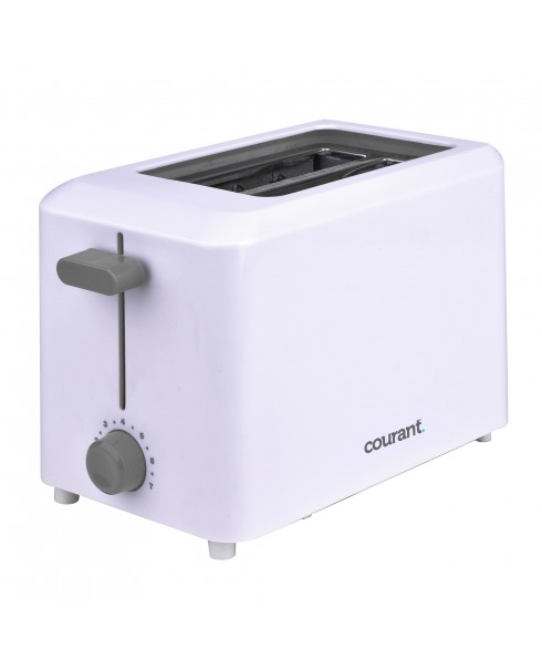 COURANT 2-SLICE TOASTER, WHITE