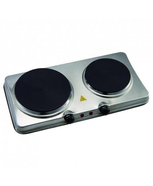 Courant 1700 Watts Electric Double Burner, Stainless Steel Design