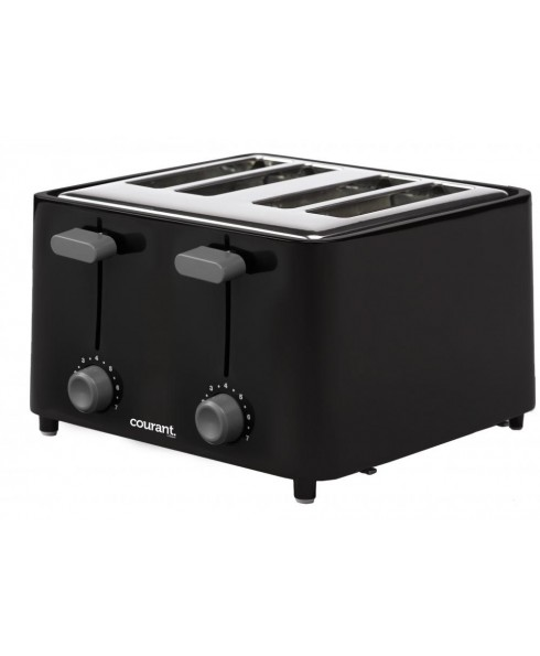 Courant 4-Slice Toaster, Black/Stainless