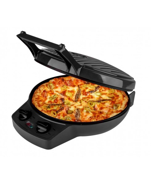 Courant 12 Inch Electronic Pizza Maker w/ Dial, Opens 180°, Black