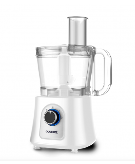 Courant 12-cup Food Processor with Kugel Disc - White