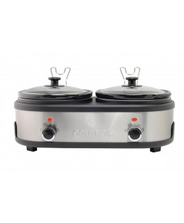 Courant 2.5 QT Double Slow Cooker -  Stainless Steel