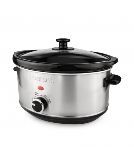 Courant 3.5 Quart Oval Slow Cooker, Stainless Steel