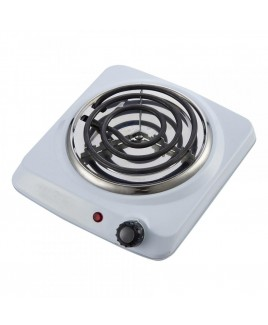 Courant 1000 Watts Electric Single Burner, White