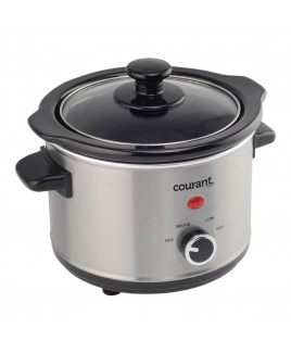Courant 1.5 Quart Slow Cooker, Stainless Steel
