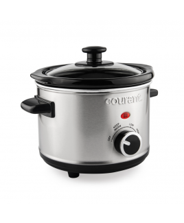 Courant 1.6 Quart Slow Cooker, Stainless Steel